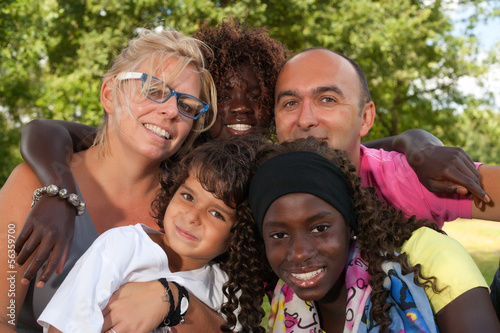 Photographie  Famille multi etnic