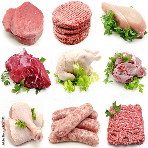Staande foto Vlees Mural de carnes