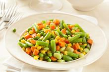 Steamed Organic Vegetable Medly