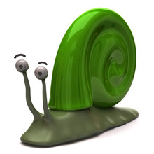 Illustration Of Green Snail