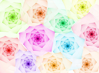 Obraz na Plexifractal roses background
