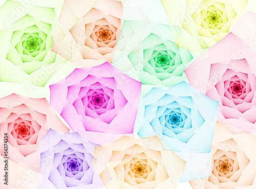 fractal roses background - 56374354