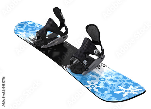 Fotografie, Obraz  Snowboard isolated on white. Clipping paths