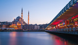 View on Galata Bridge in Istanbul, Turkey.