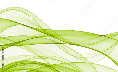 Photo sur Toile Fractal waves Abstract waves on white background