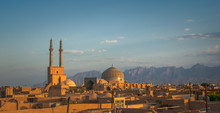 Sunset Over Ancient City Of Yazd, Iran
