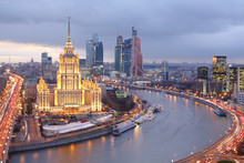 Moscow City At Evening