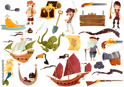 stock pirates Canvas Print