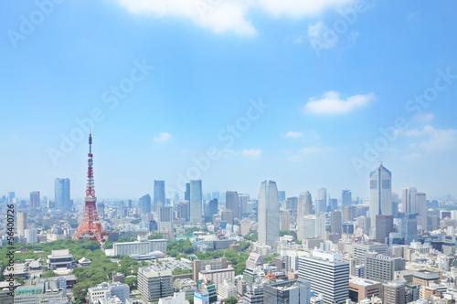 Deurstickers Tokio 東京の眺め