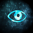 Privacy concept: Eye on digital background
