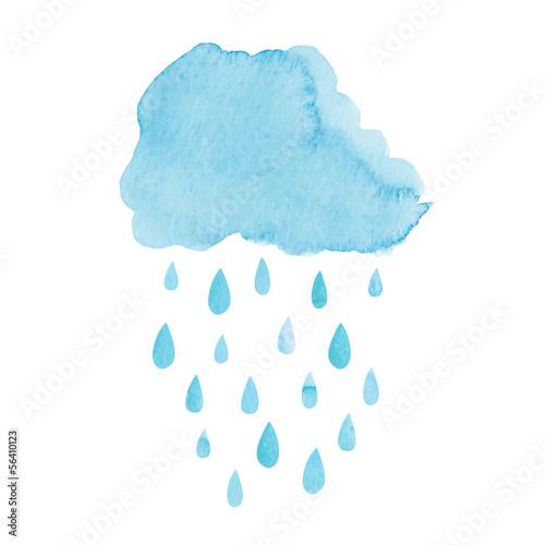 Akwarela deszczowa chmura