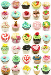 FototapetaMural of several cupcakes