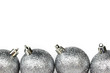 canvas print picture silver christmas ball