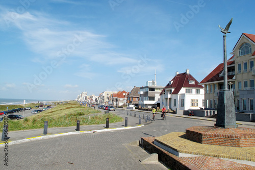 Coastal boulevard in Noordwijk, Netherlands, Europe. Canvas Print