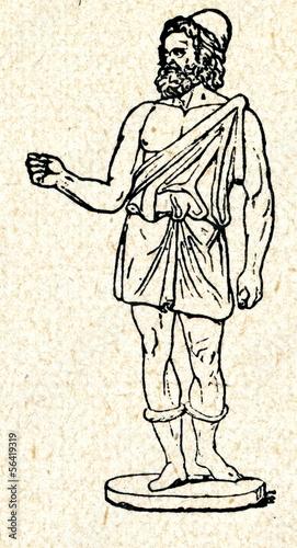 Fotomural Hephaestus,  Greek god of blacksmiths