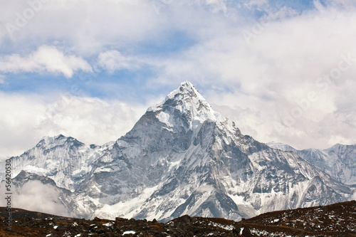Photo  Ama Dablam peak, Nepal