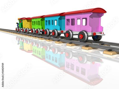 zabawkowy-pociag-z-wielobarwnymi-wagonami