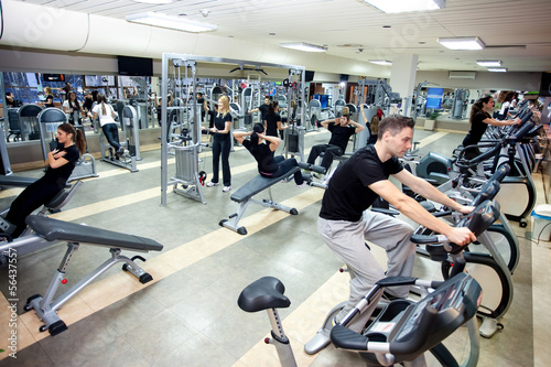 Papiers peints Fitness People workout at gym