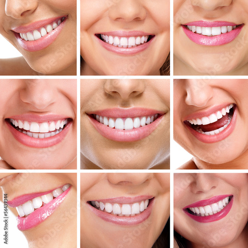 teeth collage of people smiles #56439344