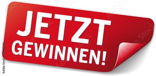Photo roter Sticker Jetzt Gewinnen!