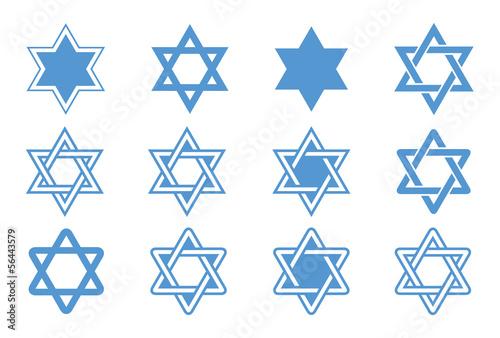 Fototapeta Star of David. Vector illustration. obraz