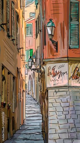 ulica-w-rzymie-ilustracja