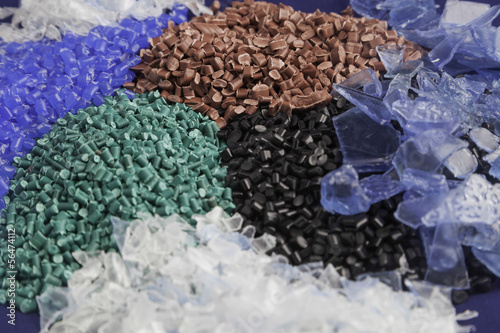 Recycled plastic polymers Canvas-taulu