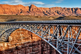 Steel bridge over canyon - grand canyon 01