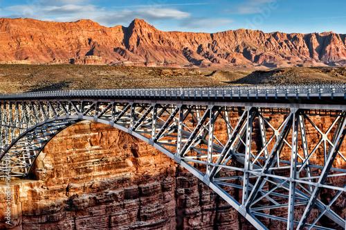 Steel bridge over canyon - grand canyon 01
