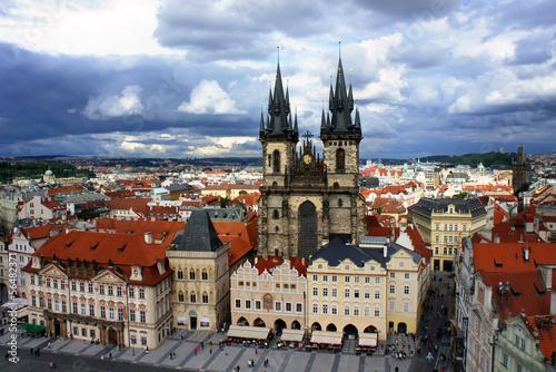 Papiers peints Paris Church of our Lady. Tyn Church in old town of Prague