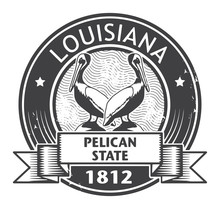 Stamp With Name Of Louisiana, Vector Illustration