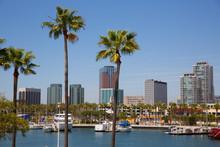 Long Beach California Skyline ...