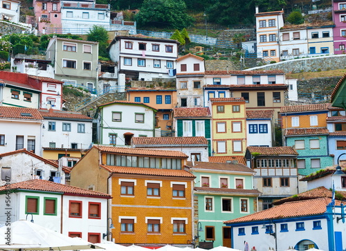 Colorful houses in Cudillero, Asturias, Spain