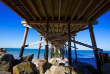 Newport Pier Beach In California USA From Below