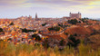 Toledo from hill in summer morning