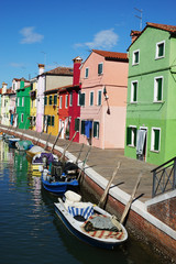FototapetaIsland of Burano, colorful facades