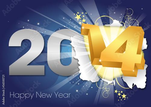 2014 Greeting card - Happy New Year Wallpaper Mural