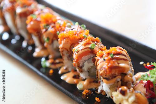 Poster Sushi bar Sushi roll