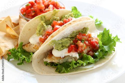 Fotografie, Obraz  Chicken Tacos