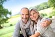 canvas print picture - Portrait of loving senior couple