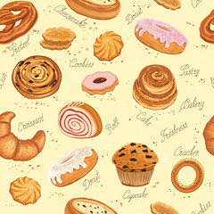 Fototapeta Do piekarni Bakery background