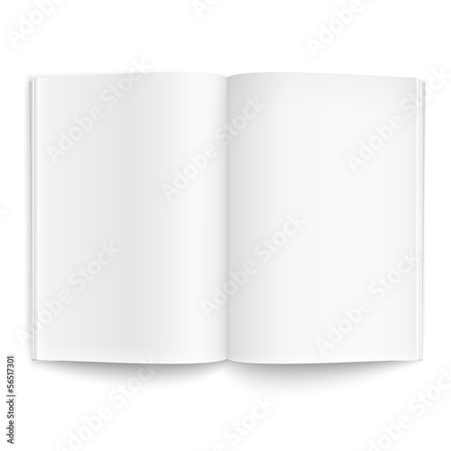Blank magazine template with soft shadows. Poster