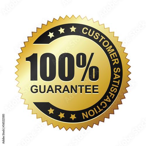 Fotografía  Customer satisfaction guaranteed gold badge