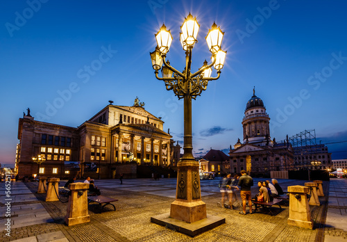 Foto op Canvas Brussel French Cathedral and Concert Hall on Gendarmenmarkt Square at Ni