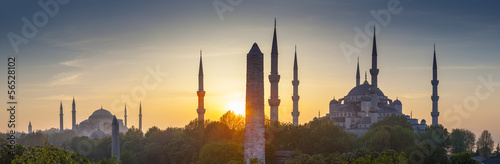Ingelijste posters Turkije Sultanahmet Camii / Blue Mosque, Istanbul, Turkey