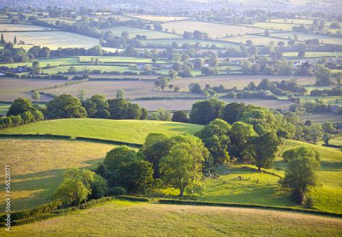 Fotobehang Landschap Idyllic rural farmland, Cotswolds UK