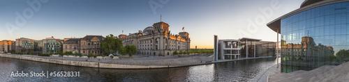 Poster Berlin Reichstag, River Spree, Berlin