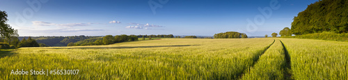 Dramatic sky, Idyllic rural landscape, Cotswolds UK