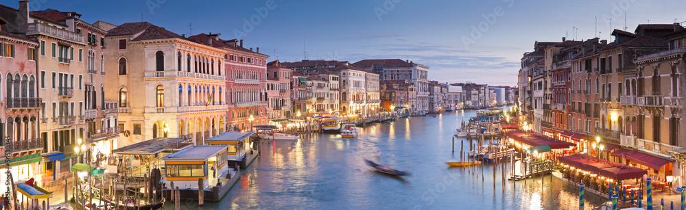Fototapety, obrazy: Grand Canal, Villas and Gondolas, Venice