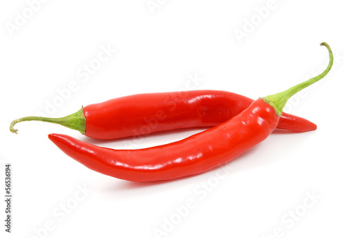 Papiers peints Hot chili Peppers Due peperoncini rossi